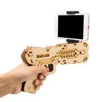 Wholesale Newest Iphone Games - 2017 Newest Portable Bluetooth AR-Gun Newest style 3D VR Games Wooden Material Toy AR Game Gun for Android iOS iPhone Phones