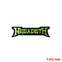 Wholesale Rock Band Patches - MEGADETH Sew Iron On Patch Rock Band Heavy Thrash Metal Logo Music Embroidered