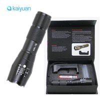 Wholesale Self Warming - LED Flashlight Ultrafire 2000 Lumens Zoom Adjustable CREE XM-L T6 LED 18650 Flashlight Torch & 1x18650 Battery + Charger & Gift Boxes