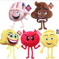 Wholesale Stuffed Soft Toys - Emoji Movie Plush Toys Stuffed Dolls Cartoon Character Plush Toys 20-25cm Stuffed Plush Crazy Happy Soft Toy KKA1862