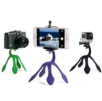 Wholesale New Gecko - New Fashion phone holder Universal stand Gecko holder Mini Tri Portable octopus phone camera holder stents for iphone Samsung