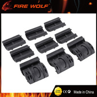 Wholesale picatinny handguard - FIRE WOLF 12pcs Tactical Weaver  Picatinny Rubber Handguard Quad Rail Covers 2 Colors BK DE for Hunting