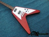 Red Color Flying V Guitarra elétrica Nova chegada OEM China Guitars Free Shipping
