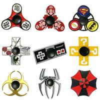 Wholesale Evil Toys - Metal Cartoon Fidget Spinners Super Mario Resident Evil Dragon Ball Super Heroes Anime Hand Spinner Zinc Alloy Spinners Decompression Toy