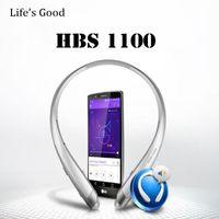 nfc kopfhörer großhandel-HBS1100 Ton Platunum HBS-1100 Drahtlose Kragen Headset Unterstützung NFC Bluetooth 4,1 HIFI Sport Freisprecheinrichtung Kopfhörer