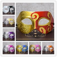 Fashion Roman Mask Costume vénitien masculin Party Masques pour hommes Party Greek event Party cosplay Dance Ball Mask