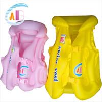 babyleben groihandel-Kindersicherheits-Schwimmweste für Kinder Baby-Badebekleidung-aufblasbare Sicherheits-Weste veste de sauvetage Baby-Schweinweste 3 Größe