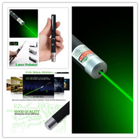 Wholesale Laser Lights Pens - Hot Powerful green Laser Pointer Pen Visible Beam Light 5mW Lazer 532NM-405NM High Power Free Shipping