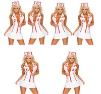 Sexy Costumes packaging uniforms - 2017 Europe and the United States sexy underwear nurses uniform temptation package COSPLAY nurses club role play retail