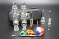 Glass case bird - Cheap Honey Straws Bird Nectar Collectors With mm mm Real Quartz Tips Gr2 Titanium Nails Silicone Jar Leather Case Mini Dab Bongs
