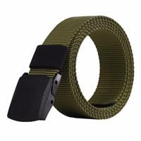 Wholesale Tactical Belt Buckles Wholesale - Automatic Buckle Nylon Belt Male Army Tactical Belt Mens Military Waist Canvas Belts Cummerbunds High Quality Strap