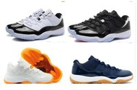 Wholesale Cheap Solid Real - Bred Retro 11 mens basketball shoes cheap sneakers Mens low QS Georgetown Space Jam Citrus GS Retro 11s XI Trainers Real Original