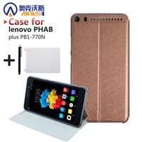 lenovo phab großhandel-Wholesale-Luxus-PU-Leder-Abdeckung für Lenovo PHAB Plus PB1-770N Tablet 6,8 Zoll Case + Displayschutzfolie + Stift