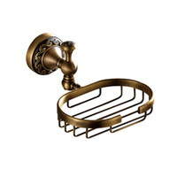 Wholesale antique dishes - Free shipping New designed Modern Antique bronze finish brass Soap basket  soap dish soap holder  wall mounted soap dish