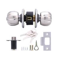 Wholesale Privacy Door Locks - Lowest Price Home HF-Q-22 Stainless Steel Brushed Round Ball Privacy Door Knob Set Handle Lock Door Knob Lock 60# Gift Box for Door Bedroom