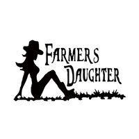 Wholesale women sticker - 2017 Hot Sale Farmers Daughter Fashion Sexy Women Vinyl Car Body New Design Decorative Stickers Decals Jdm
