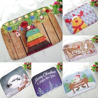 Wholesale Waterproof Kitchen Mat - Wholesale-Hot 40*60cm Christmas HD Printed Non-Slip kitchen Bath Mat Absorbent Waterproof Home Decor Alfombra de bano