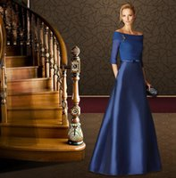 Wholesale Ship Boat Model - Boat Neck Sexy Fashion 2017 Free Shipping Zipper Back Design Prom Dresses Robe de Soiree Evening Gowns