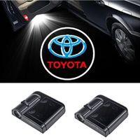 Wholesale toyota verso - LED Car door logo projector lights For Toyota Corolla Avensis Yaris Rav4 Auris Prius Verso Celica Camry 40 Hiace Vitz Supra Aygo Corona