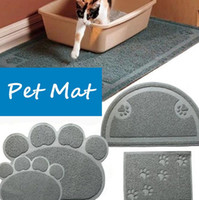 Wholesale Litter Kitty - Pet Doormat Petmate Kitty Cat Litter Box Mat Toilet Rug Litter Mat Carpet PVC Dog Dish Bowl Food Water Tray Keep Floor Clean