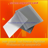 Wholesale Plastic Business Cards Box - Wholesale- 100pcs   lot Before the split shell phone disassembly the box frame LCD screen repair business card card plastic sheet