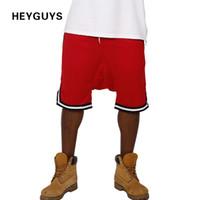 Wholesale Wholesale Clothes For Big Men - Wholesale- HEYGUYS 2017 new mesh shorts men hip hop street wear fours colors fashion clothing for men big size casual shorts beach