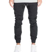 Wholesale Crotch Pants For Men - Designer Mens Harem Joggers Sweatpants Elastic Cuff Drop Crotch Drawstring Biker Joggers Pants For Men Black Red Green