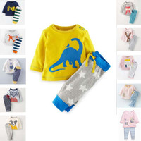Wholesale Girs Set - BST28 NEW ARRIVAL Little Maven girs Kids 100%Cotton Long Sleeve cartoon stripped girl's set causal spring autumn girl set t shirt+ pant