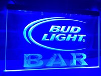 LA093b- Bud Light BAR Bud Cerveza LED Neon Light Sign