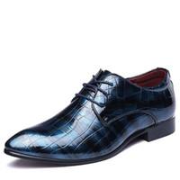Wholesale formal design leather shoes - New Designer Genuine Leather Men Flats , Business Brand Leather Mens Shoes, Design Men Dress Shoes , Men Oxfords Formal Shoes