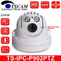 TSCAM nouveau SP-P902PTZ ONVIF HD 960P 1.3MP MINI PTZ Dôme Caméra IP TF / Micro SD Card Slot Array IR Night Audio P2P
