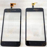 Wholesale iphone glass lens color resale online - New Touch Screen Digitizer For Explay Craft Touchscreen Sensor Panel Front Glass Lens Black Color M Sticker