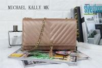 Wholesale Designer Handbag Mk - Famous Designers women brand MICHAEL KALLY MK bags luxury PU LEATHER messenger handbags women's lady shoulder tote Travel bags purse tassel