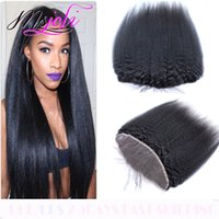 Wholesale Ms Queen - Indian Virgin Human Hair 13x4 Lace Frontal Natural Black Queen Ear To Ear Closure Kinky Straight With free Parts 8-22 Inch From Ms Joli