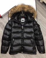 Wholesale Mens Big Fur Coat - M364 anorak men winter jacket hommes real raccoon fur parka winter coat mens down jacket big fur coats vests homme