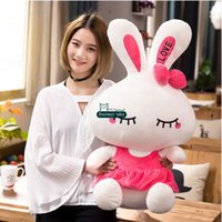 Dorimytrader Large Lovely Giant 100cm Cartoon Bunny Peluche en peluche 39 '' Big Stuffed Soft Rabbit Toy Pillow Lover Gift DY60134