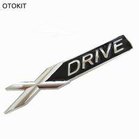 Wholesale Car Chrome Decals - 3D Metal Chrome Badge X DRIVE Emblem Badge Sticker Decal for BMW 3 4 5 6 7 All Series X1 X3 X5 E70 X6 E71 Car Decoration