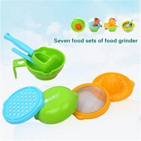 Wholesale 7pcs set Baby Food Mill Set Multi functional Grinding Bowl Fruit Vegetables Food Supplement Self Feeding for Children