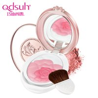 Atacado-Qdsuh Butterfly Love Rose Blush Powder Paleta de maquiagem natural suave Maquiagem Cheek Blusher 2 Highlighter de cores
