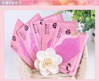 Wholesale Crystal Sheets - 100pcs PILATEN Crystal Collagen Lip Mask Collagen Protein Crystal Women Replenishment Lip Film Lip color anti cracking moisturizing