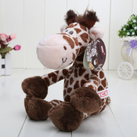 Wholesale Giraffe Dolls Toy - Hot sale NICI Wild Friends cute giraffe plush doll stuffed animals toys 25CM