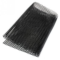 Wholesale Bumper Vehicle - Aluminum alloy Car front bumper Mesh grill grille cover Universal Aluminum Mesh Grill Section Car Vehicle Black body Grille Net