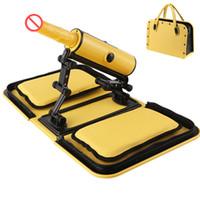 Wholesale Dildo Bag - Sex Machine Portable Handbag Yellow Remote Control 3 Vibrations 3 Thrusting Automatic Heat Dildo Bag Sex Love Gun for Women E5-1-18-X5