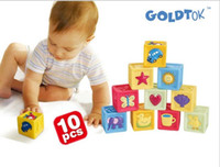 Wholesale Soft Building Blocks - GOLDTOK baby baby baby soft soft soft block building blocks of patented products
