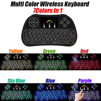 Wholesale Minix Mini - minix Mini Rii I8 Fly Air Mouse backlit Wireless Keyboard Handheld 2.4GHz Touchpad Remote Control smart android tv boxes