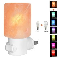 Wholesale Glow Party Cups - Himalayan Salt Lamp Natural Crystal Salt Light Glow Hand Carved Night Lights Wall light with UL Listed Plug for Lighting, Decoration and Air