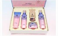 Wholesale Lotion Set Gifts - Free shipping BIOAQUA Sakura Moisturizing Water Gift Skin Care Set Moisturizing Moisturizing Facial Set total weight 490g