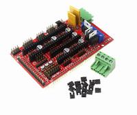 arduino yazıcı toptan satış-IKEYES D3 Arduino DIY Reprap Rampaları 3D Yazıcı Denetleyici Desteği için V1.4 Kalkanı Modülü Arduino Mega2560 kurulu