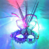 Wholesale Chocolate Factory Toy - Luminous butterfly rain dance performances mask party mask wholesale night market flash toy factory direct selling