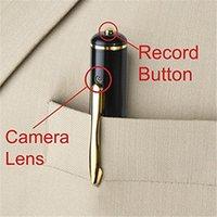Wholesale hidden audio video recorder - 1PC Mini Spy Pen Camera Audio Video Recorder Hidden Security DVR 1280*960 HD Pen Camcorder Hidden Pinhole Cam No Retail Box